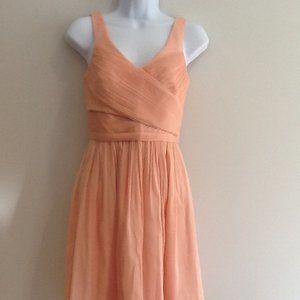 J. Crew Heidi Petite Silk Chiffon Dress